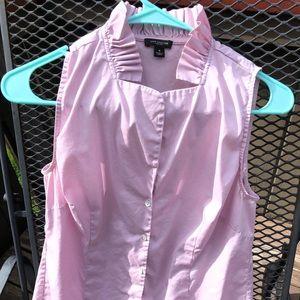 Ann Taylor sleeveless dress shirt size 4